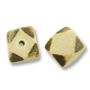 Bleached Wood Diagonal Cube Beads 10mm (1-Pc)