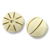 Bleached Grooved Round Beads 15mm (1-Pc)