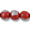 Wood Beads Round 20mm Red/Silver (16