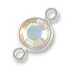 Swarovski Round Channel 6mm Crystal AB Sterling Plated (1-Pc)