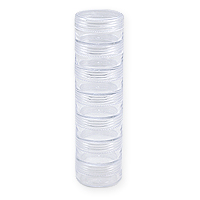 1-1/4 Inch Round Stackable Storage Jars (7-Pcs)