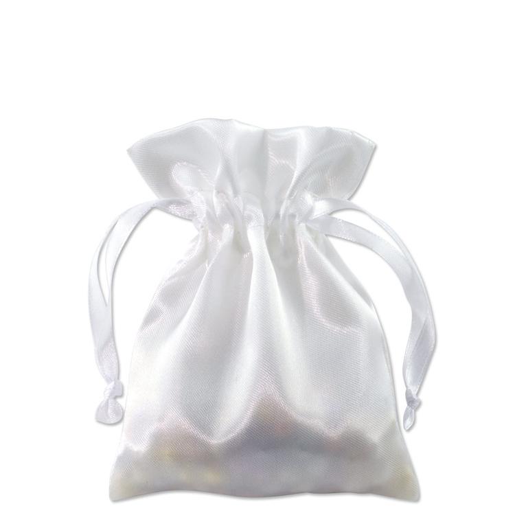 Satin Jewelry Pouch 3x4 White 10 Pcs