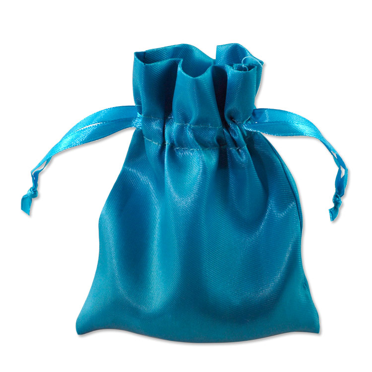 Satin Jewelry Pouch 4x5 Turquoise