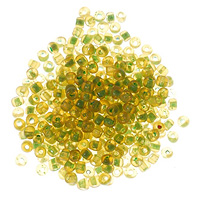 Seed Bead Inside Color 6/0 Green (Ounce)