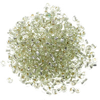 Seed Bead Silver Lined 6/0 Pale Green (Ounce)