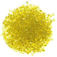 Seed Bead Silver Lined 8/0 Yellow (Ounce)