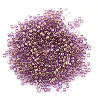 Miyuki Delica Seed Bead 11/0 Gold Luster Amethyst Transparent (3 Gram Tube)