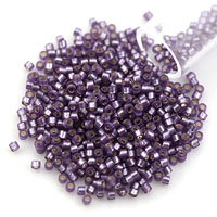Miyuki Delica Seed Bead 11/0 Silver Lined Semi-Matte Dusty Lilac (3 Gram Tube)