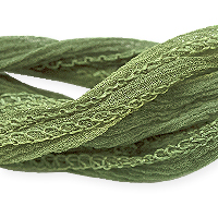 Army Green Silk Fairy Ribbon (35 Inches)