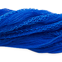 Azure Blue Silk Fairy Ribbon (35 Inches)