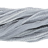 Silver/ Grey Silk Fairy Ribbon (35 Inches)