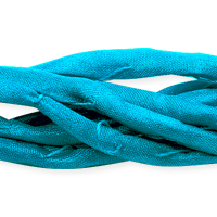 Turquoise Silk String Ribbon (42 Inches)