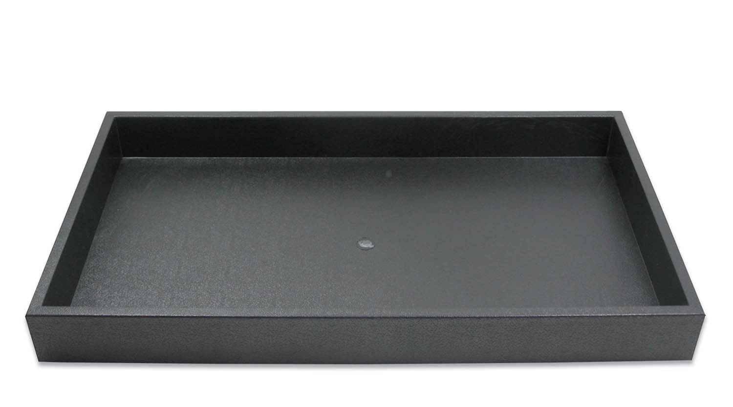 Gentil 1 ½ Inch Tall Standard Size Stackable Black Plastic Jewelry Utility Tray