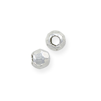 Faceted Mirror Beads 2.5mm Sterling Silver (1-Pc)
