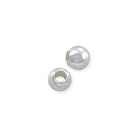 Round Bead Lightweight 2mm Sterling Silver (10-Pcs)