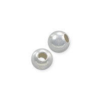 Round Bead 3mm Sterling Silver (10-Pcs)