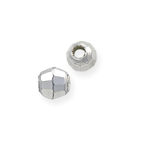 Faceted Mirror Beads 3mm Sterling Silver (1-Pc)