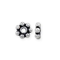 Bali Style Heishi Bead 4.8x1.5mm Sterling Silver (1-Pc)