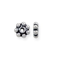 Bali Style Heishi Bead 4x1.3mm Sterling Silver (1-Pc)