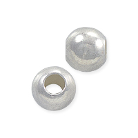Round Beads 6mm Sterling Silver (1-Pc)