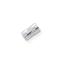 Twisted Seamless Crimp Tube Beads 3x2mm Sterling Silver (10-Pcs)