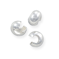 Crimp Bead Cover 4mm Sterling Silver (2-Pcs)