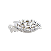 Filigree Clasp 15x6mm Sterling Silver (1-Pc)