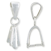 Ice Pick Bail with Bail 20mm Sterling Silver (1-Pc)