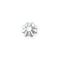Bead Cap 3.5x.5mm Sterling Silver (4-Pcs)