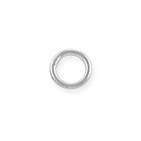 5mm Sterling Silver Round Closed Jump Ring (2-Pcs)