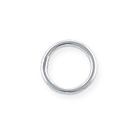 8mm Sterling Silver Round Closed Jump Ring (1-Pc)