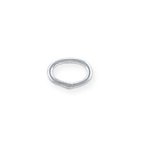 6x4mm Sterling Silver Oval Closed Jump Ring (2-Pcs)