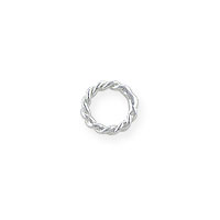 4mm Sterling Silver Twisted Wire Round Closed Jump Ring (4-Pcs)