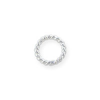 5mm Sterling Silver Twisted Wire Round Closed Jump Ring (2-Pcs)