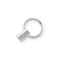 Crimp Tube Cord End 6mm Sterling Silver (1-Pc)