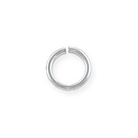 6mm Sterling Silver Round Open Jump Ring (2-Pcs)
