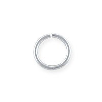 7mm Sterling Silver Round Open Jump Ring (2-Pcs)