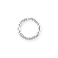 8mm Sterling Silver Round Open Jump Ring (2-Pcs)