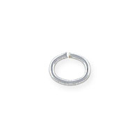 5x4mm Sterling Silver Oval Open Jump Ring (4-Pcs)