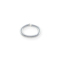 6x4mm Sterling Silver Oval Open Jump Ring (4-Pcs)