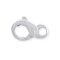 Lobster Claw Clasp - Infinity Loop 11.5x6.7mm Sterling Silver (1-Pc)