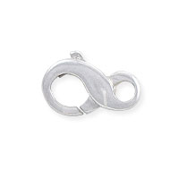 Lobster Claw Clasp - Infinity Loop 9x6mm Sterling Silver (1-Pc)