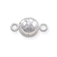 Magnetic Round Clasp 10mm Sterling Silver (1-Pc)