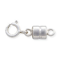 Magnetic Clasp Converter 10x4mm Sterling Silver with 5mm Spring Ring (1-Pc)