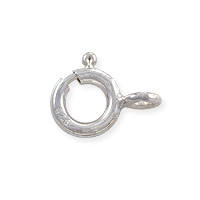 Spring Ring Clasp 7mm Sterling Silver Open Ring (1-Pc)