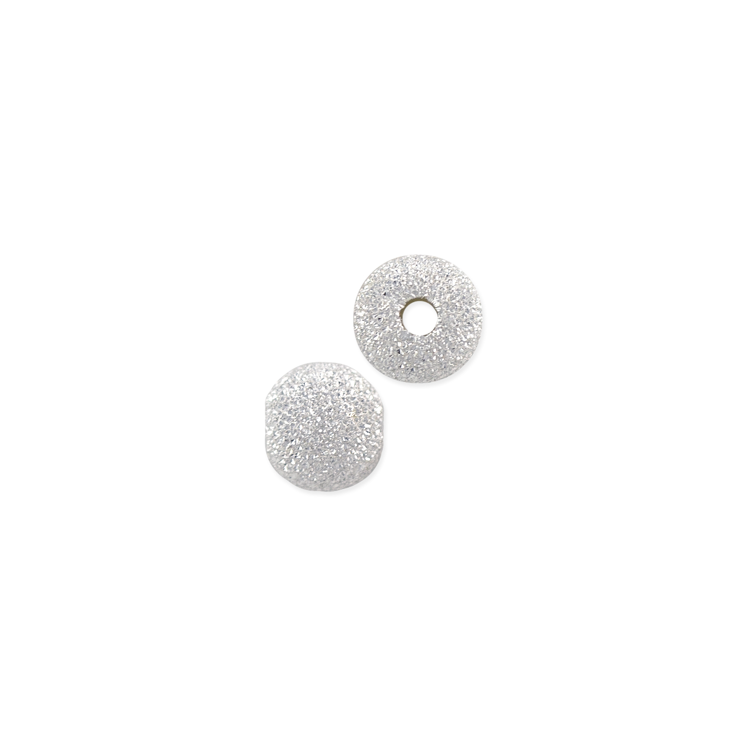Stardust Beads 6mm Sterling Silver (1-Pc)