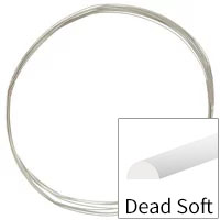 Sterling Silver Wire Half Round Dead Soft 18ga (Priced per Foot)
