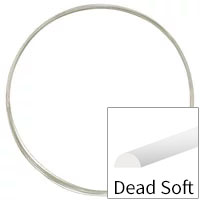 Sterling Silver Wire Half Round Dead Soft 20ga (Priced per Foot)