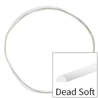Sterling Silver Wire Half Round Dead Soft 22ga (Priced per Foot)