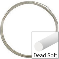 Sterling Silver Wire Round Dead Soft 14ga (Priced per Foot)